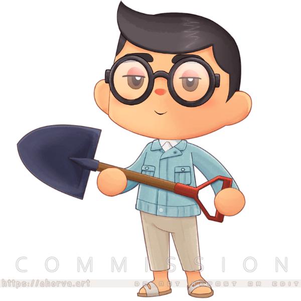 [Commission] AC-styled Chibi