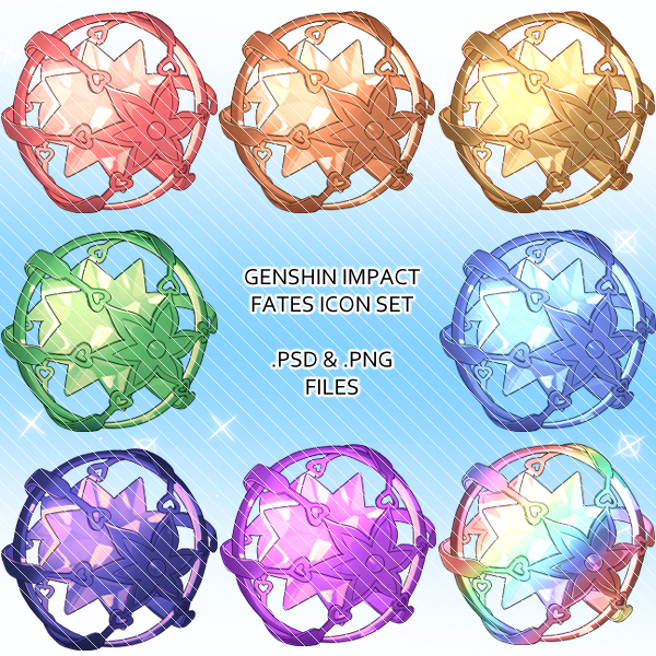 Genshin Impact Fate Icons